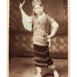 Myanmar_Photo_Archive_handcoloured_girl dancing pose_1910s
