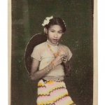 Myanmar_Photo_Archive_handcoloured_girl_skirt_1960s